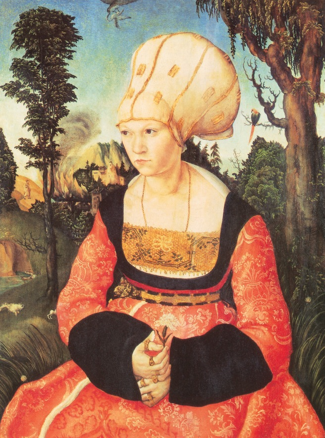 Lucas Cranach - Portrait of Anna Cuspinian, 1502.