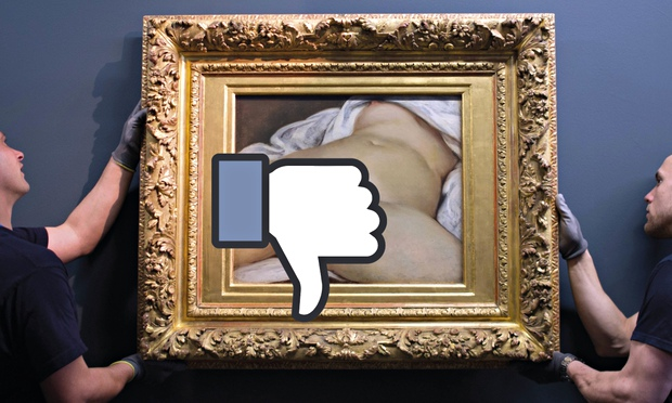 Facebook has attempted to ban the posting of Gustave Courbet's The Origin of the World.
