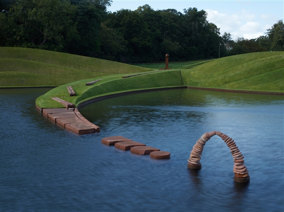 Charles Jencks, Life Mounds, (2005). Courtesy of Jupiter Artland. Photo: Allan.