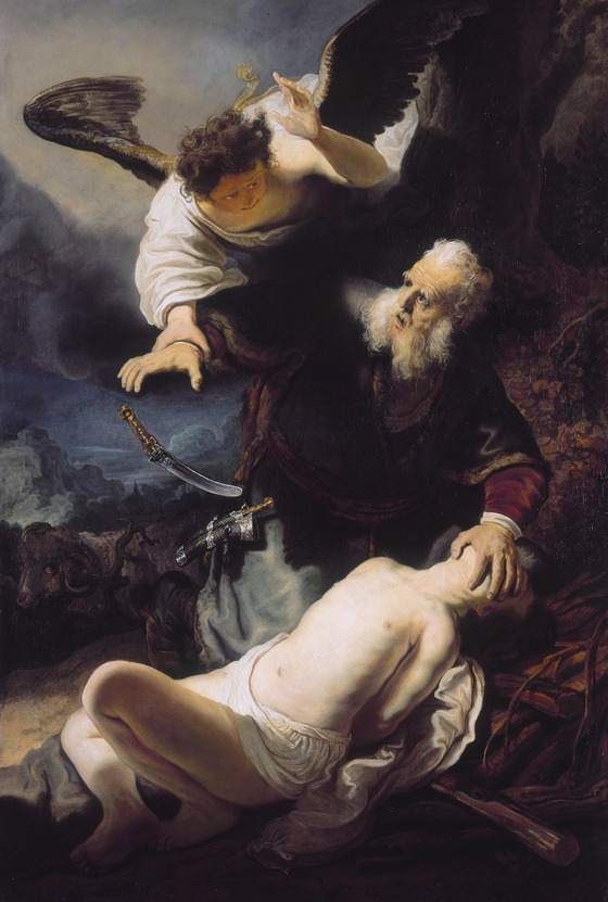 Rembrandt, The Sacrifice of Isaac (1636). Oil on canvas