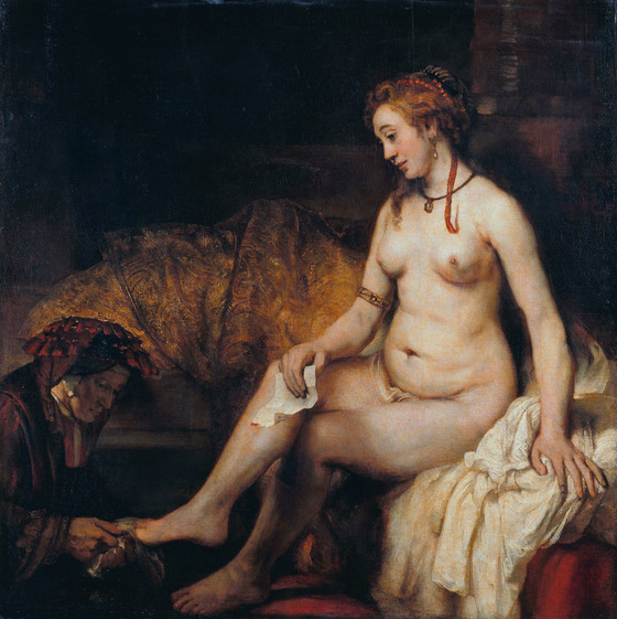 Rembrandt, Bathsheba with David's Letter (1654). Oil on canvas