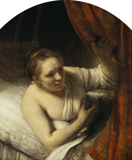 Rembrandt, A Woman in Bed (c.1645-46). Oil on canvas