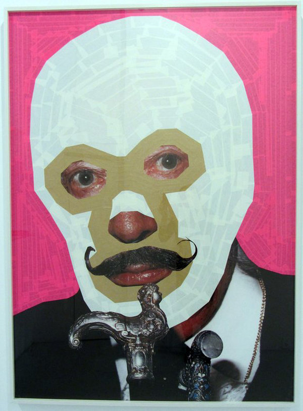 Hector Madera, Salvador, 2013, Mixed media collage, 67 x 49 in., Courtesy of the artist