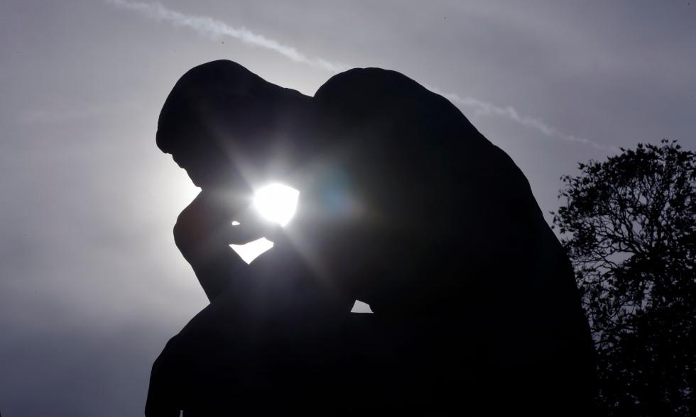 Thinking man's chocolate … Rodin's Le Penseur. Photograph: Philippe Wojazer/Reuters