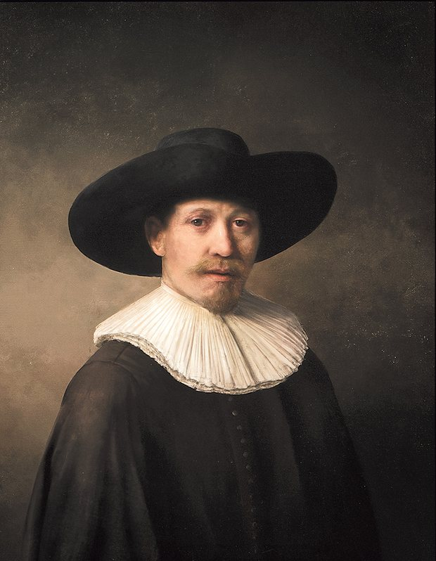 The Next Rembrandt, unveiled in Amsterdam: the new artwork is based on 168,263 Rembrandt painting fragments. Photograph: handout