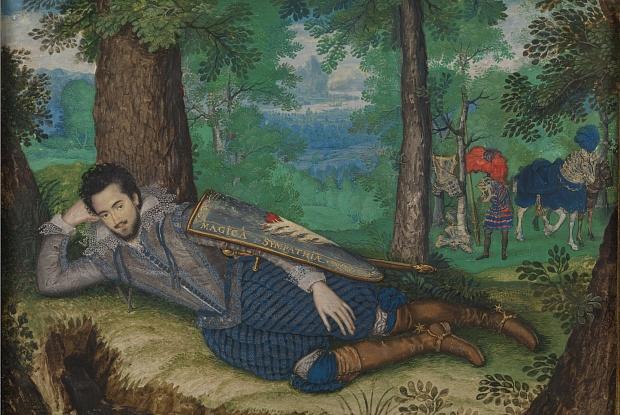 Isaac Oliver, Edward Herbert, 1st Baron Herbert of Cherbury (around 1610-14) (Image: © National Trust)